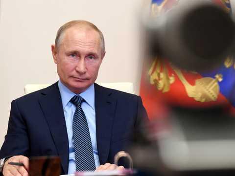 ロシアのプーチン大統領。2020年6月20日撮影。