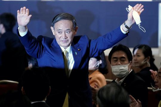 自民党総裁に選出された菅義偉氏(2020年9月14日)