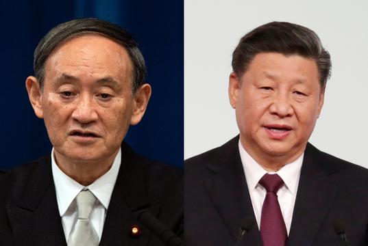 菅義偉首相と習近平国家主席
