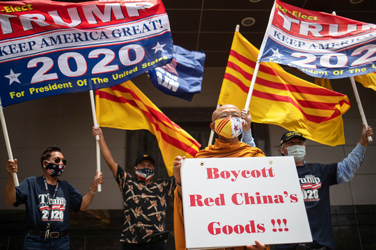 アメリカ 中国共産党 抗議
