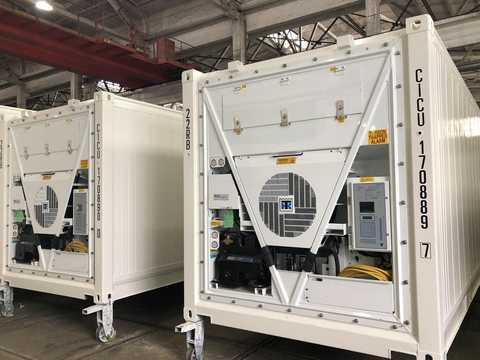 サーモキングの冷凍庫は、普段は生鮮マグロを日本に輸送するために使用されている。COVID-19ワクチンを輸送する際にも有効だ。
