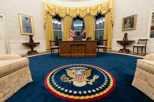 ホワイトハウスの大統領執務室は、2021年1月20日のジョー・バイデン大統領就任に合わせて改装された。