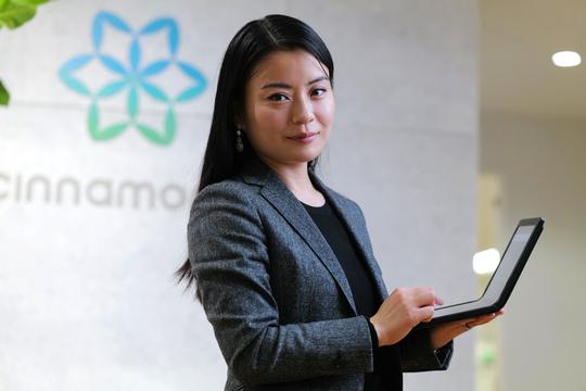 「シナモンAI」代表取締役社長CEOの平野未来氏