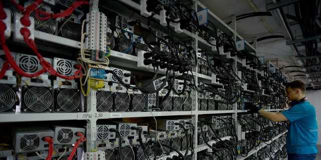 ビットコインの採掘には膨大な電力が使われる。