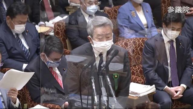 参院予算委員会で答弁するNTTの澤田社長