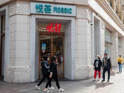 上海のH&M