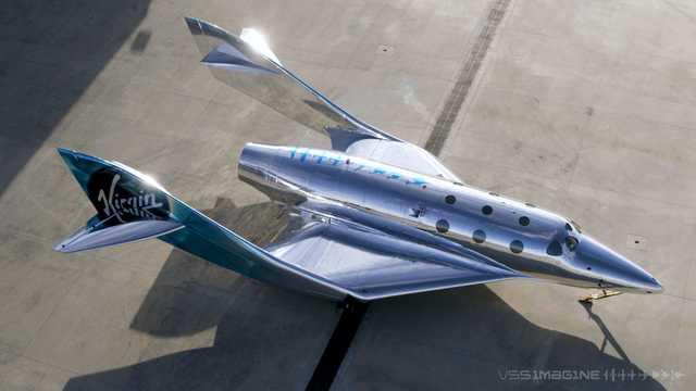 ヴァージン・ギャラクティックの宇宙船のイメージ。