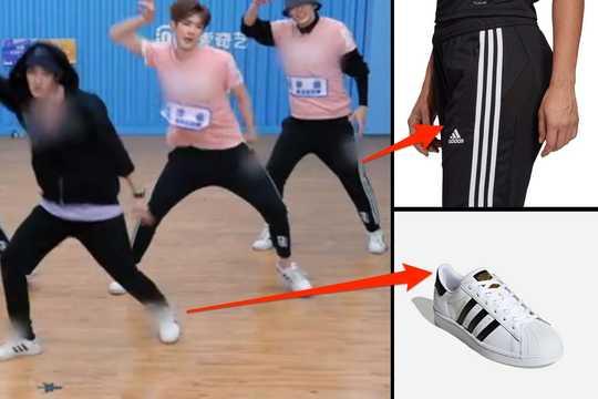 中国のオーディション番組「Youth With You」の出演者が着用していたアディダスのスポーツウェアから、ブランドのロゴが消されていた。