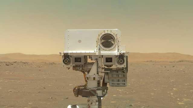 火星探査車パーサヴィアランスの自撮り。