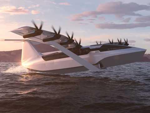 リージェントが開発した水上グライダーの完成予想図