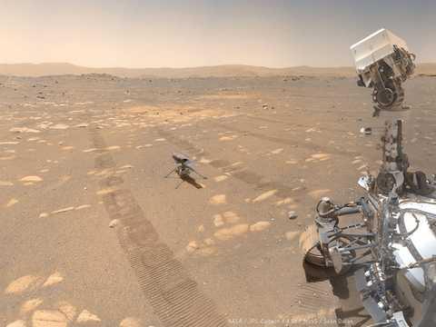 NASAの火星探査車が撮影した写真。