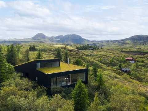 アイスランドの自然と調和した家