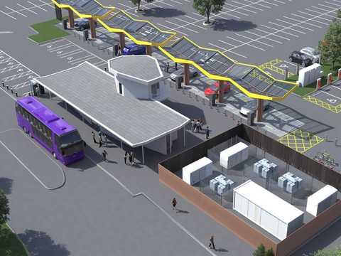オックスフォードに開業予定の充電スーパーハブ