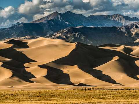 コロラド州南部にあるグレート・サンドデューンズ国立公園。