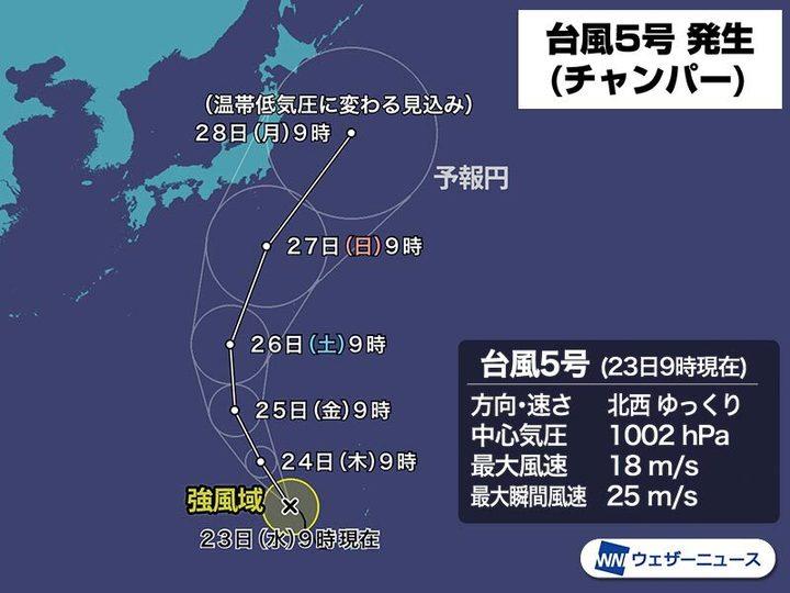 気圧 最新 発生 状況 低 熱帯 熱帯低気圧 発達して24時間以内に台風へ