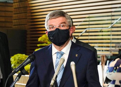 IOCのトーマス・バッハ会長(2021年7月14日ー首相官邸)