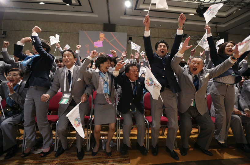 東京2020大会、招致決定の瞬間。
