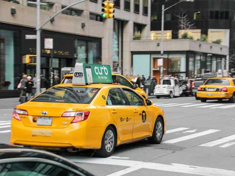 New York City cabs hailed through Curb saw a 152% increase between April and July 2021.