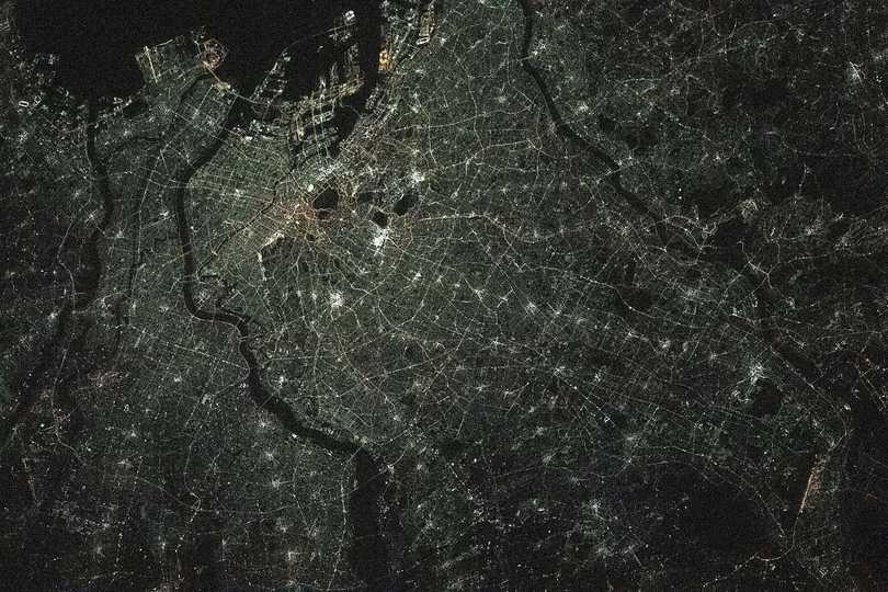 東京の夜景。2021年2月27日撮影。