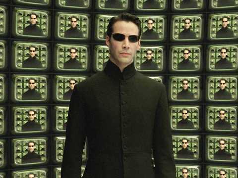 "Keanu Reeves in ""The Matrix."""