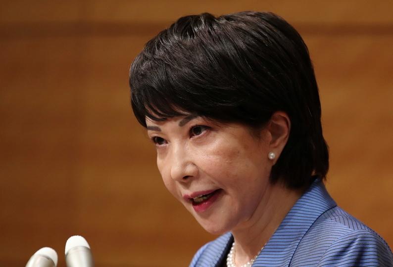自民党総裁選への立候補を表明する高市早苗氏(9月8日)