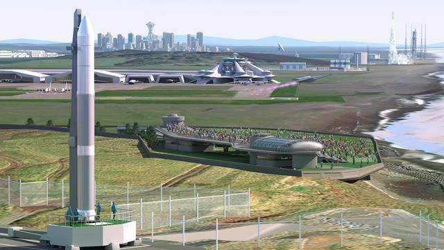 北海道スペースポートの完成イメージ(credit_北海道スペースポート)