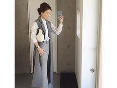 重ね着が楽しい季節。モノトーンコーデにボリュームをプラス #Instagoodライフ
