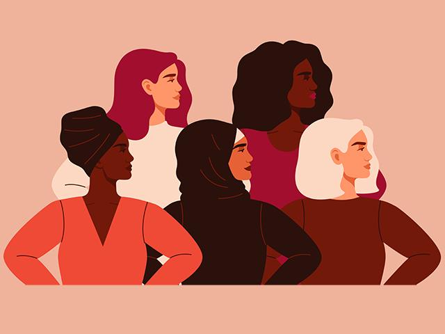 多様な人種の女性