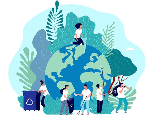 環境を保護する人々