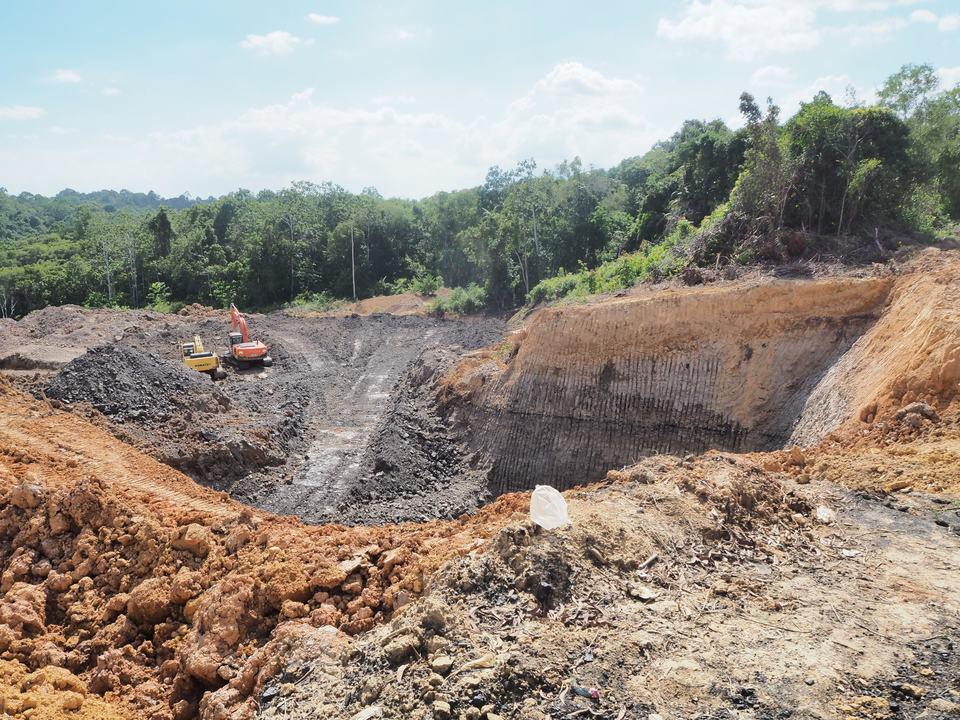 資源開発によって破壊された熱帯雨林(インドネシア)