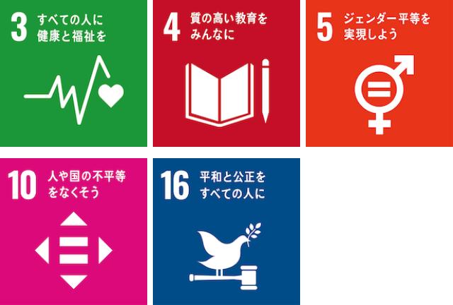 SDGs3,4,5,10,16