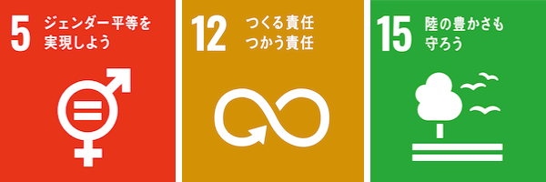 SDGs ゴール5.12.15