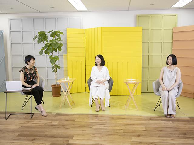 左から遠藤祐子、小高千枝さん、はしかよこさん