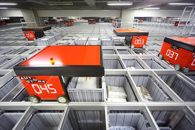 国内初導入! ロボット倉庫「オートストア」がニトリの物流の現場を改革