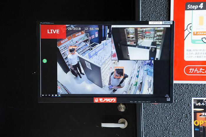 カメラのモニター画面
