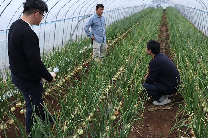 プラネット・テーブルのスタッフは頻繁に畑まで行き、生産者の声に耳を傾ける