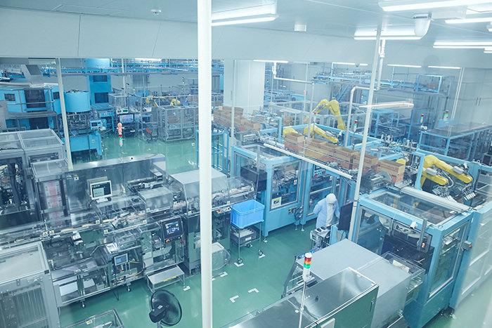 マヨネーズ製造工程の一部