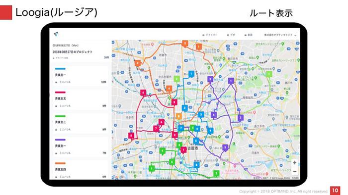ルージアの地図画面