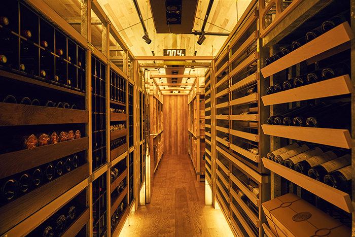 ワイン倉庫の様子