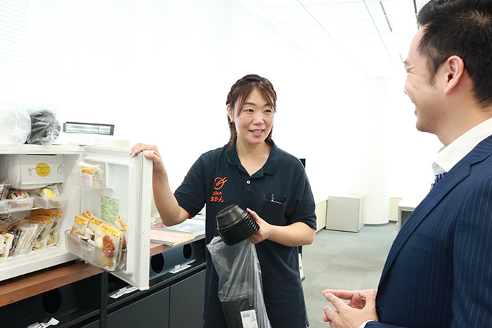 納品時に配達員がお客様とコミュニケーションをとり直接フィードバックを伝えることもある