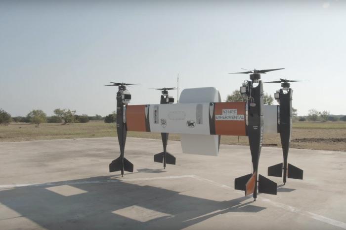 ベル社と共同で行われた実証実験での新型eVTOL「APT70」