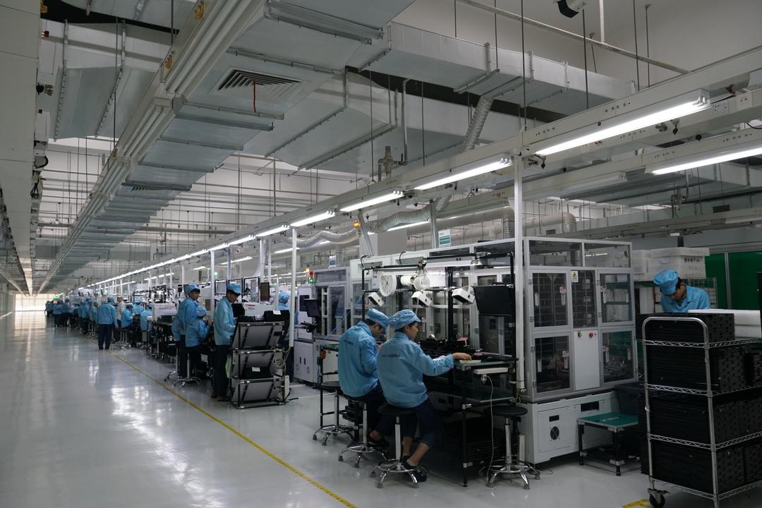 OPPO工場内の様子(筆者撮影)