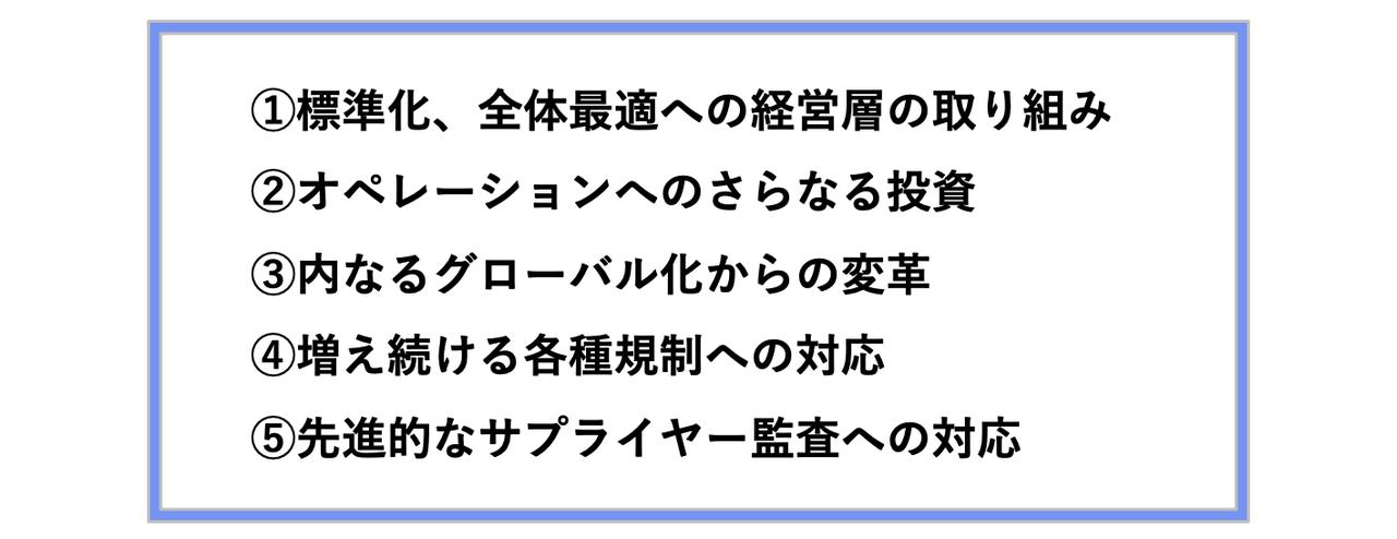 日本企業で考えられる5つの課題