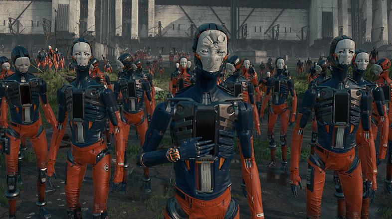 新作映画かと思いました。ロボット囚人たちを描いたUnityのデモ映像