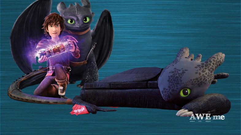 「ヒックとドラゴン」のトゥース型巨大カウチをファンのために製作