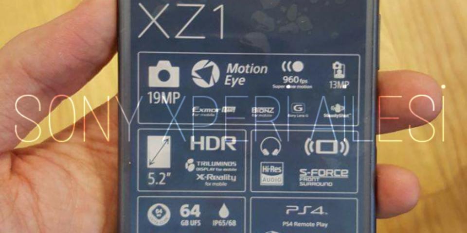 「Xperia XZ1」のリーク画像が公開! Xperia XZシリーズとクリソツ