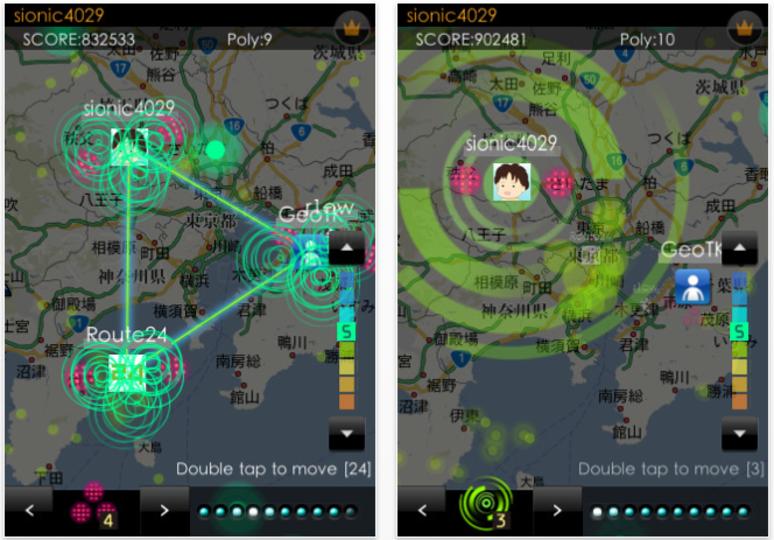 【アプマラサポーター 06】巨大な三角形を作れ! GPSを使ったiPhone用ゲーム「geotrion」 #gizipad
