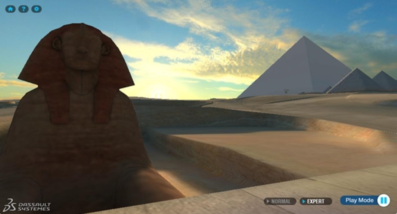 これはすごい! ご自宅でもピラミッドをお散歩できるダッソーシステムズのGOODな3Dコンテンツ。プレゼントもあるよ