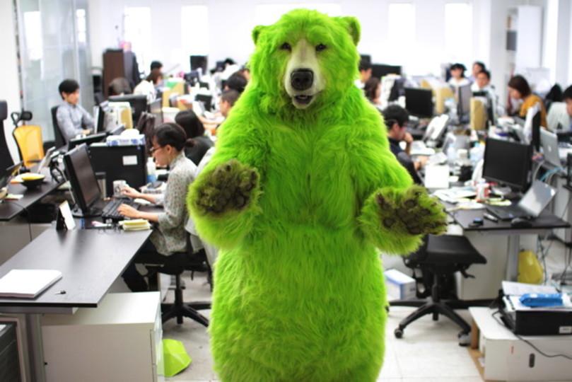 カスペルスキーがセキュリティ業界に放った刺客!? 「緑の熊」がギズモードにやってきた