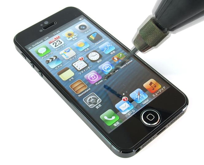 ドリルで削ってもキズが残らない!? iPhone 5用液晶保護フィルム「Ultra shield tempered glass for iPhone5」11月上旬発売